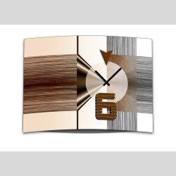 Wanduhr XXL 3D Optik Dixtime abstrakt braun weiß...