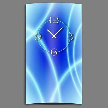 Abstrakt eisblau Designer Wanduhr modernes Wanduhren Design leise kein ticken dixtime 3D-0179