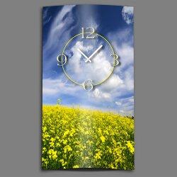 Blumenwiese Designer Wanduhr modernes Wanduhren Design leise kein ticken dixtime 3D-0168