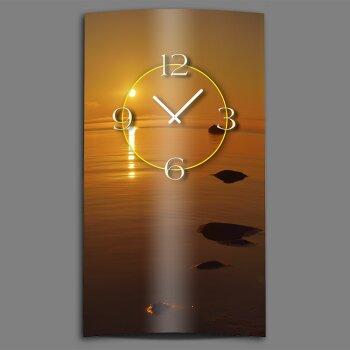 Sonnenuntergang Meer  Designer Wanduhr modernes Wanduhren Design leise kein ticken dixtime 3D-0166
