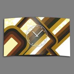 Retro 70er 60er Designer Wanduhr modernes Wanduhren Design leise kein ticken dixtime 3D-0164