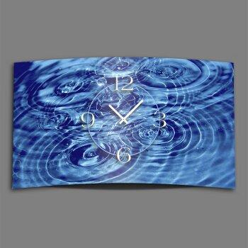 Wasser Qi Yoga Designer Wanduhr modernes Wanduhren Design leise kein ticken dixtime 3D-0161