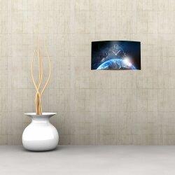 Galaxy All Weltraum Designer Wanduhr modernes Wanduhren Design leise kein ticken dixtime 3D-0158