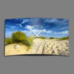Strand Düne Natur Designer Wanduhr modernes Wanduhren Design leise kein ticken dixtime 3D-0151