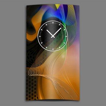 Abstrakt hochkant Designer Wanduhr modernes Wanduhren Design leise kein ticken dixtime 3D-0150