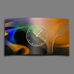 Abstrakt Designer Wanduhr modernes Wanduhren Design leise kein ticken dixtime 3D-0149