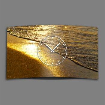 Goldstrand Designer Wanduhr modernes Wanduhren Design leise kein ticken dixtime 3D-0147