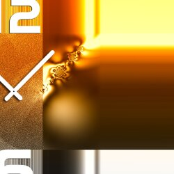 Wanduhr XXL 3D Optik Dixtime abstrakt orange weiß 50x70 cm leises Uhrwerk GR-010