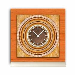 Tischuhr 30cmx30cm inkl. Alu-Ständer -antikes Design...