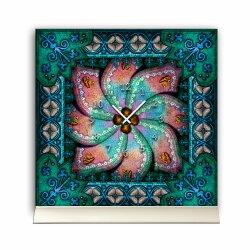 Tischuhr 30cmx30cm inkl. Alu-Ständer -orientalisches...