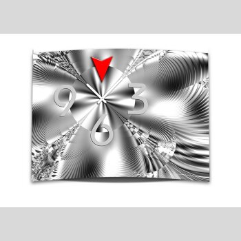 Wanduhr XXL 3D Optik Dixtime abstrakt weiß schwarz 50x70 cm leises Uhrwerk GR-006