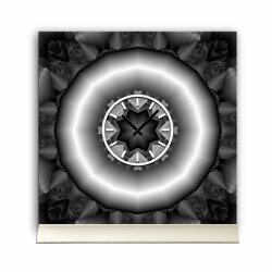 Tischuhr 30cmx30cm inkl. Alu-Ständer -abstraktes...