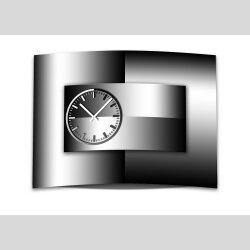 wanduhr xxl 3d optik dixtime modern schwarz wei 50x70 cm - Wanduhr Modern