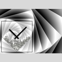Tischuhr 30cmx30cm inkl. Alu-Ständer -modernes Design anthrazit schwarz geräuschloses Quarzuhrwerk -Wanduhr-Standuhr TU4092 DIXTIME