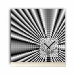 Tischuhr 30cmx30cm inkl. Alu-Ständer -modernes...