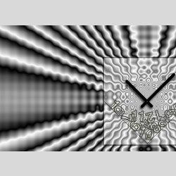 Tischuhr 30cmx30cm inkl. Alu-Ständer -modernes Design grau anthrazit  geräuschloses Quarzuhrwerk -Wanduhr-Standuhr TU4095 DIXTIME