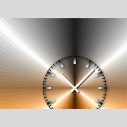 Tischuhr 30cmx30cm inkl. Alu-Ständer -edles Design metallic orange  geräuschloses Quarzuhrwerk -Wanduhr-Standuhr TU4204 DIXTIME