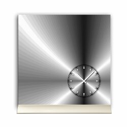 Tischuhr 30cmx30cm inkl. Alu-Ständer -edles Design...