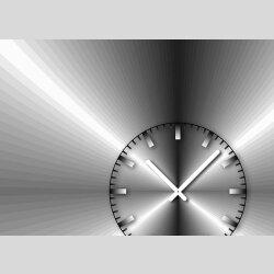 Tischuhr 30cmx30cm inkl. Alu-Ständer -edles Design metallic  geräuschloses Quarzuhrwerk -Wanduhr-Standuhr TU4207 DIXTIME