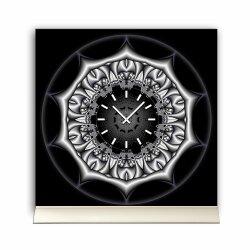 Tischuhr 30cmx30cm inkl. Alu-Ständer -mystisches...