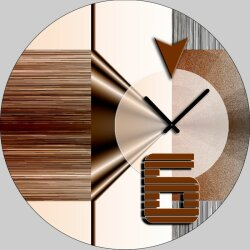 5086 Dixtime Designer Wanduhr, Wanduhren, Moderne...