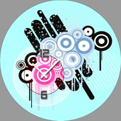 5079 Dixtime Designer Wanduhr, Wanduhren, Moderne...