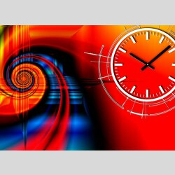 3726 Dixtime Designer Wanduhr, Wanduhren, Moderne...