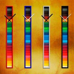 S020 Dixtime Wanduhren Style SlimLine 10cm x 100cm inkl....