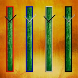 S017 Dixtime Wanduhren Style SlimLine 10cm x 100cm inkl....