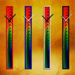 S011 Dixtime Wanduhren Style SlimLine 10cm x 100cm inkl....