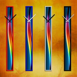 S010 Dixtime Wanduhren Style SlimLine 10cm x 100cm inkl....