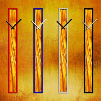 S006 Dixtime Wanduhren Style SlimLine 10cm x 100cm inkl. Alu Rahmen