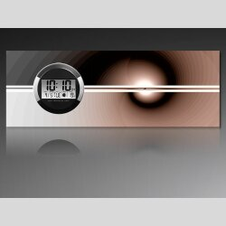 6121 Dixtime Digital Designer Wanduhr, Moderne...