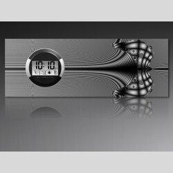 6130 Dixtime Digital Designer Wanduhr, Moderne...
