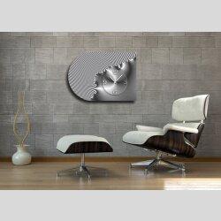 6141 Dixtime Designer Wanduhr, Moderne Wohnraumuhr...