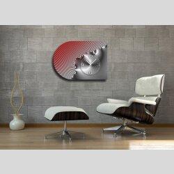 6142 Dixtime Designer Wanduhr, Moderne Wohnraumuhr...