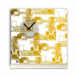 Tischuhr 30cmx30cm inkl. Alu-Ständer edles Design...