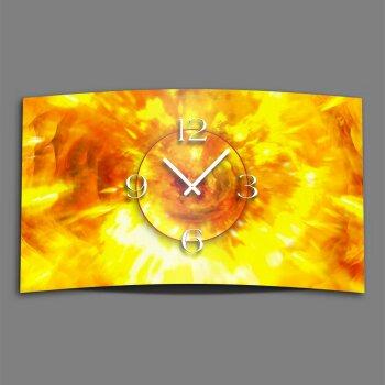 Abstrakt Feuer und Flamme Designer Wanduhr modernes Wanduhren Design leise kein ticken dixtime 3D-0141