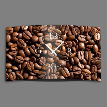 Kaffebohnen Designer Wanduhr modernes Wanduhren Design leise kein ticken dixtime 3D-0138