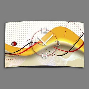 Abstrakt orange rot Designer Wanduhr modernes Wanduhren Design leise kein ticken dixtime 3D-0134