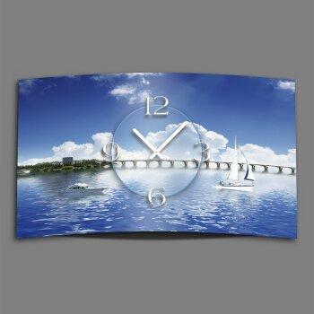 Boote See Designer Wanduhr modernes Wanduhren Design leise kein ticken dixtime 3D-0131
