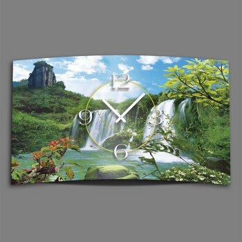 Wasserfall Designer Wanduhr modernes Wanduhren Design leise kein ticken dixtime 3D-0124