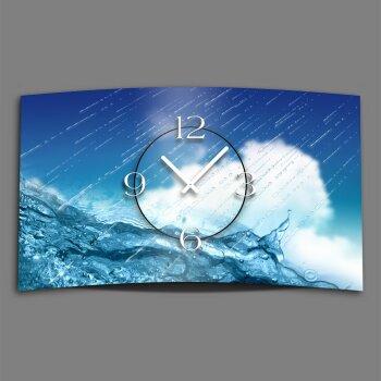 Regen Wasser Designer Wanduhr modernes Wanduhren Design leise kein ticken dixtime 3D-0122