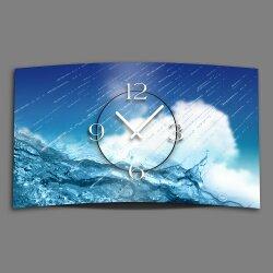 Regen Wasser Designer Wanduhr modernes Wanduhren Design...