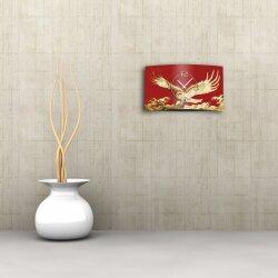 Goldadler rot Designer Wanduhr modernes Wanduhren Design leise kein ticken dixtime 3D-0118