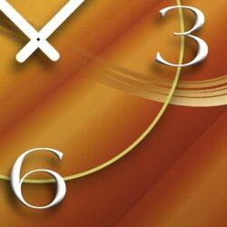 Abstrakt beige caramel Designer Wanduhr modernes Wanduhren Design leise kein ticken dixtime 3D-0117