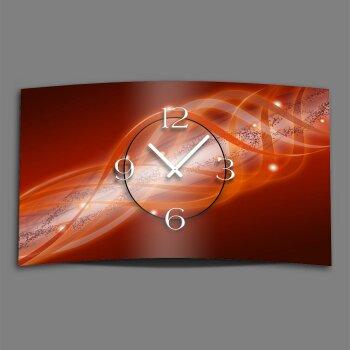 Abstrakt rot orange Designer Wanduhr modernes Wanduhren Design leise kein ticken dixtime 3D-0113