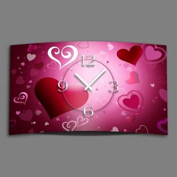 Herzen Love Designer Wanduhr modernes Wanduhren Design leise kein ticken dixtime 3D-0105