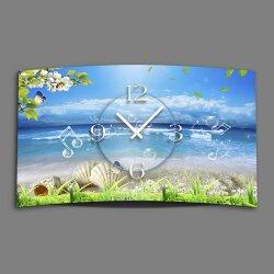 Strand Idylle Designer Wanduhr modernes Wanduhren Design...