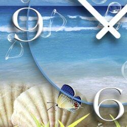 Strand Idylle Designer Wanduhr modernes Wanduhren Design leise kein ticken dixtime 3D-0100